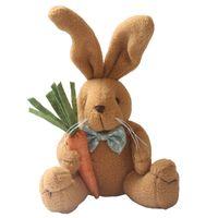 Wholesale Plush Carrot - 27 cm cute plush rabbit doll Easter gift carrot doll cute rabbit