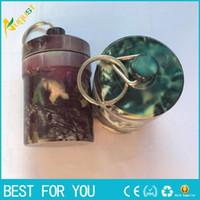 anahtarlık hap kutuları toptan satış-Taşınabilir Stash Hap kutusu durumda ilaç 48 * 80mm Depolama Anahtarlık Şişe Anahtarlık Anahtarlık metal Alüminyum Su Geçirmez Hap Şişe Konteyner