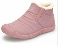 Wholesale Pink Rain Boots For Women - Winter Women Boots Slip-On Waterproof Women Snow Boots, Fur Inside Antiskid Bottom Keep Warm Ankle Rain Boots for Women G1005