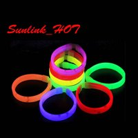 Wholesale Glow Sticks For Fishing - kid toy Glow Bracelet multi colors Light Emitting Stick fish light glow stick christmas gift for kid Chemical fluorescent