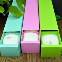 Wholesale Paper Boxes For Cakes - Solid Color 4 Grid Empty Macaron Box Bakery Box for Biscuits Cookie Mooncake Packaging Paper Gift Boxes wen4434