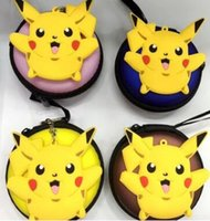 Pikachu Coin Purse Round Zipper Coin Purse Pikachu Headset Package Poke Ball Headphone Headset Carrying Hard Case Сумка для хранения мешков