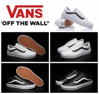 original old fashioned - Original Classic Old Skool Zip Shoes Premium Leather Black White Low Cut Womens Mens Sneakers Fashion Skateboarding Shoes