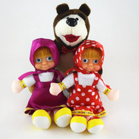 Wholesale Masha Bear Toys - Masha Plush Dolls 22cm Russian Masha Bear Soft Stuffed Animals Toys Baby Children Stuffed Doll OOA3608