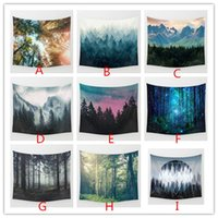 Wholesale Christmas Stocking 3d - Beach Towel Bohemian Landscape 3D Wall Tapestry 130*148cm Autumn blanket Soft Mat Outdoor Keep warm Shawl 9 color in stock 2017 Christmas