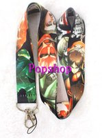 Atacadistas 300pcs Popular Anime Ataque Titan bonito Cartoon Pescoço Lanyard ID Badge Titulares cinta do pescoço do telefone celular