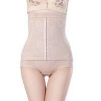 Wholesale Panty Slim Lift - Wholesale- Female Butt-lifting Abdomen Panty Seamless 3row buckle Slimming Briefs High Waist Body Shaping Panties Female Underwear