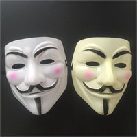 Wholesale Masquerade Masks Guys - 500Pcs V Mask Masquerade Masks For Vendetta Anonymous Valentine Ball Party Decoration Full Face Halloween Super Scary Guy Fawkes