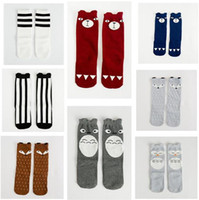 Wholesale Baby Socks Footwear Wholesaler - Baby Boy Girl Fox Socks Christmas Kids Sock Cheap Cotton Knee High Socks Children Middle Socks Footwear Baby Leg Warmers Legging Socks