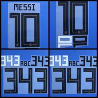 Wholesale Custom Fonts - Souvenirs 2018 2019 Argentina DYBALA KUN AGUERO DI MARIA MESSI football font Name number Print patches badges,custom Soccer Badges