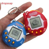 Wholesale Wholesale Pet Birds - Wholesale- Random Virtual Cyber Digital Pets Electronic Digital E-pet Retro Funny Toy Handheld Game Machine Tamagochi Toy Game Gift