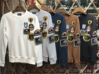 Wholesale Polka Dot Hoodies - 2017 NEW Men's DSQ Hoodies long Sleeve Cotton Jersery Tee Men's Printed Embroidery Flower Round Collar Casual D2 Men's Hoodie