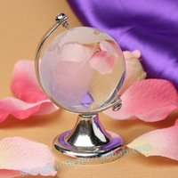 Wholesale 100Pc Glass Plastic Transparent World Globe Crystal Glass Clear Desk Decor Wedding Favor Tellurion Ornaments Gifts70 x mm