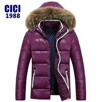 Wholesale Men Rainproof Jacket - Wholesale- 2016 men loose-fitting Windbreak Rainproof down jacket warm thick down jacket winter parka free shipping YY 270