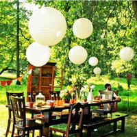 Wholesale Decor Lanterns - Wedding Decorations LED Hot Air Balloon Paper Lanterns Assorted Plain White Pink Wedding Party Accessory Birthday Party Wedding Decor 8""