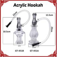 Wholesale Wholesale Smoked Vases - [ sp ] 2016 Wholesale Vase type Hookah Water Pipe Smoke Pipe Tobacco Tools Acrylic Hookah Glass Water Pipes Glass Water Bongs
