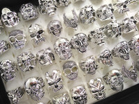 Skull Skeleton Gothic Biker Rings Masculino Rock Punk Ring Party Favor Top Styles Mix Venda por atacado Fashoin Cool Jewelry lotes HOT