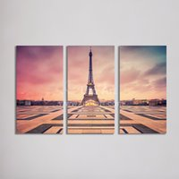 Wholesale Paris Painting Canvas - Wholesale Home Decor Canvas Wall Art Painting Paris Eiffel Tower Modular Wall Picture Canvas Print from Photo on Canvas for Home