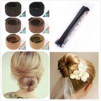 pelucas novia al por mayor-DIY Hair Tool Bun Band Rizador de pelo Peluca Donuts Hair Band Francés Magic Bun Maker para la novia Moda Chicas