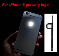 Para iPhone del logotipo de 6 LED DIY luminiscentes de luz LED que brilla intensamente MOD de la insignia Kit de panel para iPhone6 ​​6G 4,7 trasera de la cubierta