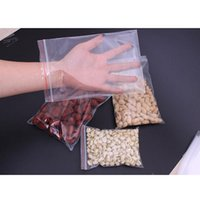 Wholesale Clear Adhesive Food Bags - 100pcs Resealable Plastic Seal Ziplock Bags Self Adhesive Clear Sealable Poly Polyethylene Food Bag Packing
