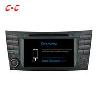 video oynama gps toptan satış-Quad Core HD 1024 * 600 Android 5.1.1 Benz W211 için Araba DVD Oynamak (2002-2008) CLS350 E220, Ewith GPS Navigasyon Radyo Wifi Ayna bağlantı DVR
