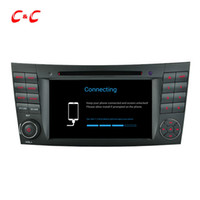 espelho dvr navegação gps venda por atacado-Quad Core HD 1024 * 600 Android 5.1.1 carro DVD jogar para Benz W211 (2002-2008) CLS350 E220, Ewith Navegação GPS Rádio Wifi link espelho DVR