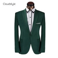 Wholesale Prom Dress Size Xs - Wholesale-2016 Brand Clothing Men Suit Prom Dress Green Mens Suits With Pants One Button Wedding Suits For Men Tuxode Suits Size XS-6XL