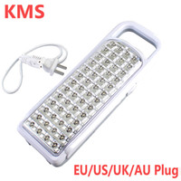 Wholesale Ourdoor Led Light - Wholesale-New Arrival KMS Portable 52 LED Rechargeable Handheld Light Ourdoor Camp Emergency Lamp KM-788