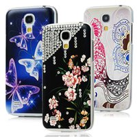 Wholesale Diamond Case For Galaxy S4 - Wholesale-New Style Butterfly Flower Parrot Handmade Diamond Case For Samsung Galaxy S4 Mini i9190 Transparent Hard Back Cover Skin Shell