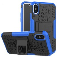 Wholesale 2 in Heavy Duty Rugged Armor Hybrid Kickstand Case for iphone Hard Back Shockproof Skin Cover