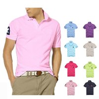 Wholesale organic sales - 2018 new high quality Summer Hot Sale Polo Shirt new Brand 21 color Polos Men Short Sleeve Sport Polo Man Coat Drop Free Shipping