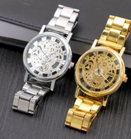 Wholesale Advanced Fashion - Wholesale and retail Hollow Alloy steel strip Quartz watches Gold silver Advanced fashion Sports and leisure Fashion watch