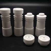 Wholesale Ceramic Dishes Wholesale - 2016 Newest Ceramic Nails 14mm 18mm Domeless Ceramic Nail Female joint Removeable Ceramic Dish for Dab oil Rig