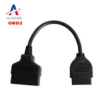 Wholesale Toyota 22pin - High Quality Toyota 22Pin to 16Pin Female OBDII Cable 22 pin Diagnostic tool obd1 to OBD2 Connector cable Free Shipping