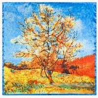 живопись кленовый лист оптовых-Кленовые листья классический пейзаж живопись живопись стиль имитация шелковые шарфы, мелкий оптом