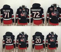 Wholesale Hockey Sweaters - Columbus Blue Jackets Hoodie #20 Brandon Saad #72 Sergei Bobrovsky 71 Nick Foligno Stitched Top Quality Hoodie Sweater Hockey Jerseys