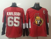 Wholesale mens blank hockey jerseys - men's New 2017-2018 Season #65 Erik Karlsson Jerseys Home Red Mens Ottawa Senators Home Blank Hockey Jerseys