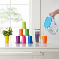 Wholesale Outdoor Coffee Pot - Rainbow Cup Set Plastic Outdoor Portable Picnic Tourism Multi Function Small Flower Pot Gargle Tea Coffee Cups Creative Gift 5 5qj F R