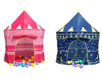 Wholesale blue castle play tent - Kids Play Tents Baby House Party Tent Children Outdoor tent Prince and Princess Palace Castle Game House