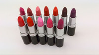 Wholesale Top Quality Makeup - New M top quality Makeup Lipstick Amplified Luster Lipstick RUBY WOO Frost Matte Lipstick 3.5g 12 colors