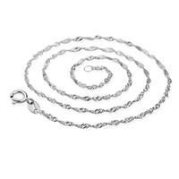 collar de cadena de plata de níquel al por mayor-40 cm 45 cm collar de cadena para mujeres joyería de moda 925 collar de cadena de plata plomo níquel libre XF