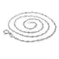 nickel-silber halskette groihandel-40cm 45cm Kette Halskette für Frauen Modeschmuck 925 Sterling Silber Halskette Kette Blei Nickel frei XF