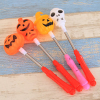 2017 Новый Hallowmas светодиодные мигающие палочки Pumpkin Ghost Light Up Spring Sticks Gift Toys Halloween Toy Glow Party Supplies