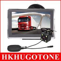 "Wholesale Navigation System Wireless - Newest Sale 7"" Bluetooth Car GPS Navigation Wireless IR LED Reverse Camera POI AVIN GPS Navigator System 4GB IGO Primo Maps"