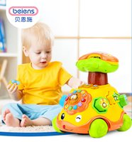 Beiens Wind Up Toy Educational Cartoon Sorriso Corda del telefono Car Development Giftal Toy per bambini Musica Early Education Puzzle Toys