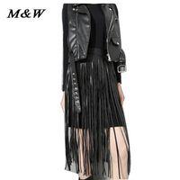 Wholesale Genuine Leather Skirts For Women - 2015 Autumn Hong Kong Style PU Leather Tassels Fake Skirt Ceinture Femme Wild Beautiful Luxury Elegant Waist Belts For Women