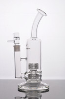 bongo de gaiola dupla venda por atacado-Bongo de vidro para sidebar Mobius Matrix Tubo de vidro duplo para gaiola com 3-5 mm de espessura com junta de 18 mm