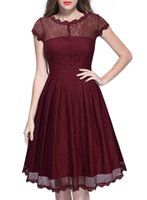 Wholesale Natural Composites - 2016 spring and autumn new listing color composite lace openwork in the long A word dress wholesale