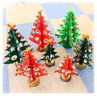 Wholesale miniature christmas ornament - DIY Wooden Christmas Tree Miniature Ornaments Wooden Tabletop Christmas Tree DIY Wooden Christmas Tree Table Decoration Home Ornament